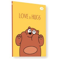 "Блокнот №1296 ""Funny series"" brown bear, А5, 128л"