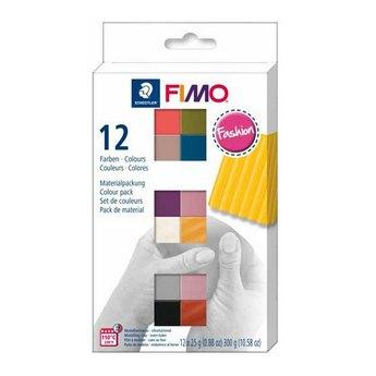 """Набор полимерной глины FIMO """"Fashion"""", 12 цветов по 25 г 8023 С12-5"""