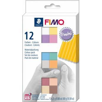 """Набор полимерной глины FIMO """"Pastel"""", 12 цветов по 25 г 8023 С12-3"""