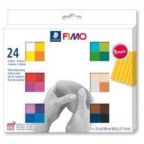 """Набор полимерной глины FIMO """"Basic"""", 24 цвета по 25 г 8023 С24-1"""
