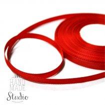 Репсовая лента 1 см, цвет - красный, 1м