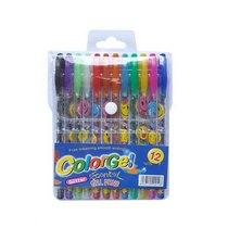 """Набор ароматизированных гелевых ручек """"Color gel Glitter"""", 12 цветов"""