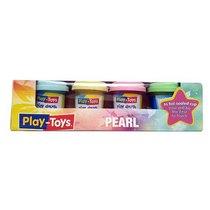 "Масса для лепки Play-Toys ""Pearl"" в баночках, 4 цвета*50 г"