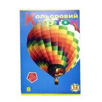 """Набор цветного картона """"Коленкор"""", А4, 12 листов"""