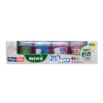 """Масса для лепки Play-Toys """"Natural"""" в баночках, 4 цвета*50 г"""