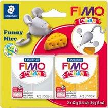 """Набор полимерной глины для лепки Fimo Kids """"Веселый мышонок"""" 2x42 г 8035 11"""