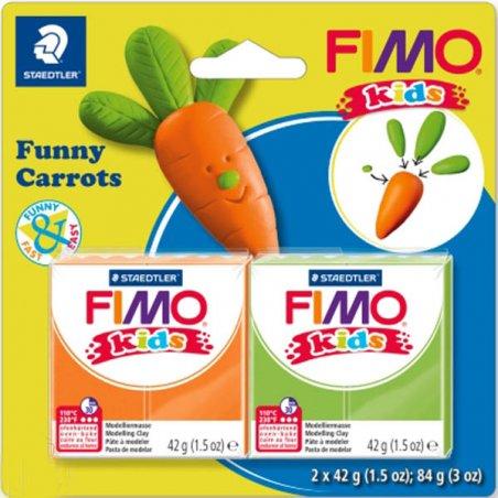 """Набор полимерной глины для лепки Fimo Kids """"Веселая морковка"""" 2x42 г 8035 14"""