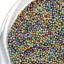 Микробисер (бульонки), цвет светлый микс металлизированный (≈ 0,6 мм), 20 г