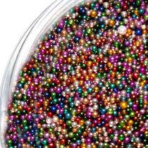 Микробисер (бульонки), цвет цветной микс металлизированный (≈ 0,6 мм), 20 г