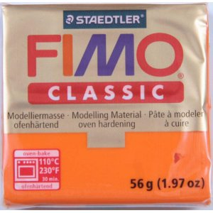 Полимерная глина Fimo Classic, 56г - №45, темно-телесный