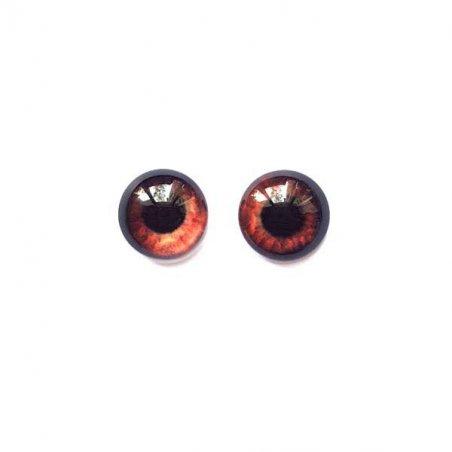 Глазки стеклянные для кукол №77224 (пара), 8 мм, цвет коричневый