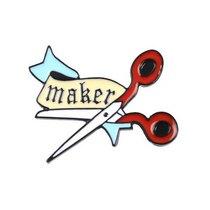 """Металлический значок """"Ножницы Maker"""", 3,2х3,6 см"""