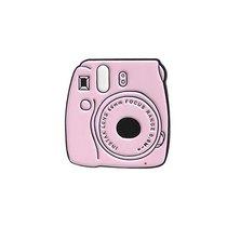 """Металлический значок """"Розовый полароид"""", 3х2,9 см"""