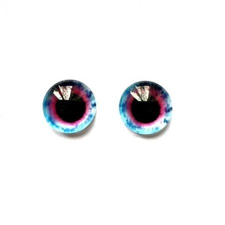 Глаза стеклянные для кукол, 8 мм, №77238 (пара)