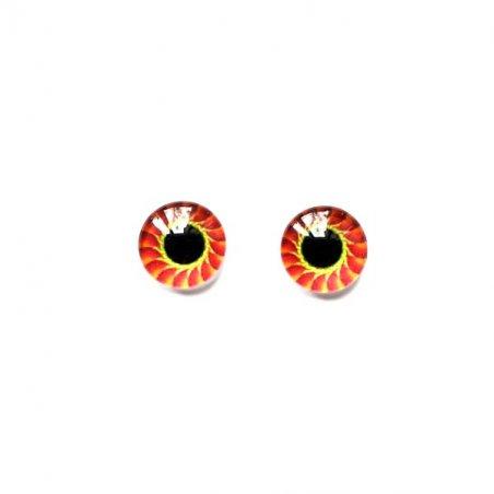 Глаза стеклянные для кукол (игрушек), 8 мм, R №400/111 (пара)