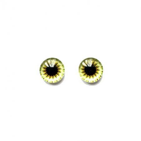 Глаза стеклянные для кукол (игрушек), 8 мм, R №400/112 (пара)