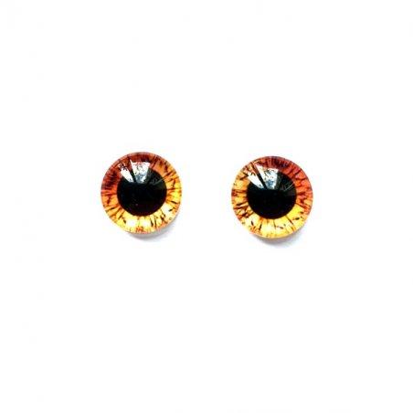 Глаза стеклянные для кукол (игрушек), 8 мм, R №5/110 (пара)