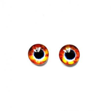 Глаза стеклянные для кукол (игрушек), 8 мм, №77287 (пара)