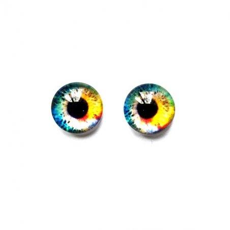 Глаза стеклянные для кукол (игрушек), 8 мм, №77261 (пара)