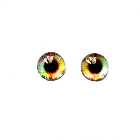 Глаза стеклянные для кукол (игрушек), 8 мм, №77252 (пара)