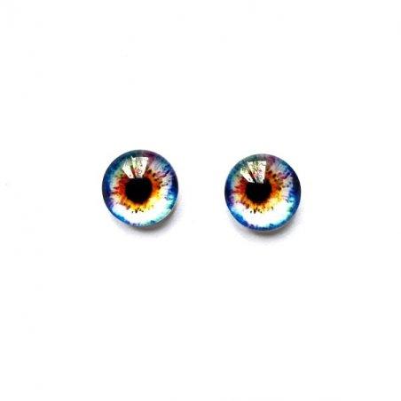 Глаза стеклянные для кукол (игрушек), 8 мм, №77275 (пара)