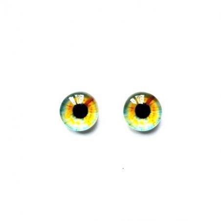 Глаза стеклянные для кукол (игрушек), 8 мм, №77277 (пара)