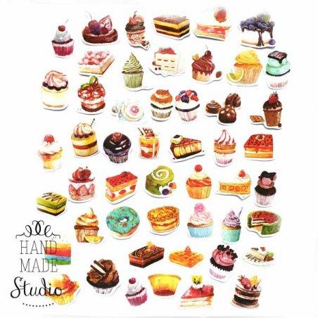 "Мини-стикеры (наклейки) ""Sweet cake"" (50 шт)"