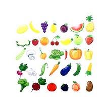 """Фетр жесткий с рисунком 1,2 мм """"Овощи и фрукты"""" 30х30 см"""