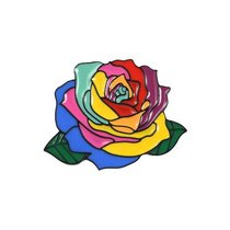 "Металлический значок ""Роза"", 3,6х3,2 см"