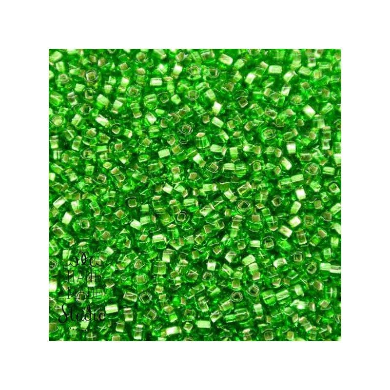 Бисер чешский PRECIOSA №57100-316- блестящий светло-зеленый, 10 г