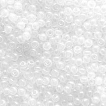 Бисер чешский PRECIOSA №57205-540- перламутровый  бледно-белый радужный, 10 г