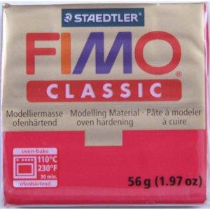 Полимерная глина Fimo Classic, 56г - №29, карминовый