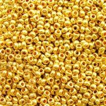 Бисер чешский PRECIOSA №18581-573- металлизированный золотой, 10 г