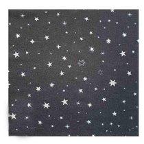 "Велкро-ткань (полотно-липучка) с рисунком ""Звездное небо"", 19,5х19,5 см"