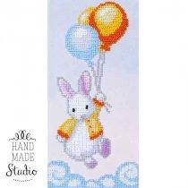 """Схема для вишивки бісером """"Кролик біленький"""" Т-0488, 10х21 см"""