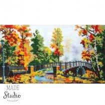 """Схема для вышивки бисером """"Осенний мост"""" Т-0182, 31х17 см"""