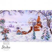 """Схема для вишивки бісером """"Зимовий пейзаж"""" Т-0184, 33х23 см"""