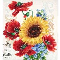 """Схема для вишивки бісером """"Польові квіти"""" Т-0793, 31х34 см"""