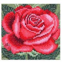 """Набір для вишивання хрестиком з муліне DMS """"Троянда"""" М-0084, 10х10 см"""