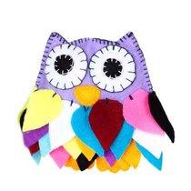 """Набір для виготовлення декоративної іграшки з фетру """"Сова"""" ФН-14, 11х11 см"""