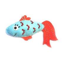 """Набір для виготовлення декоративної іграшки з фетру """"Рибка"""" ФН-73, 14х7 см"""