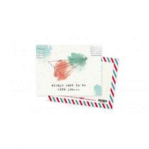 """Мини открытка """"always want to be with you"""" + крафт конверт 10х7,5 см"""