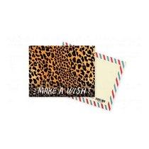 """Мини открытка """"MAKE A WISH"""" + крафт конверт 10х7,5 см"""
