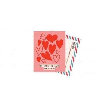 """Міні листівка """"Ми створені одне для одного"""" + крафт конверт 10х7,5 см"""