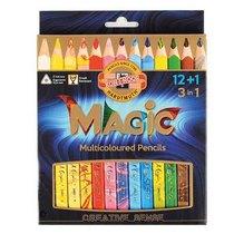 Набір кольорових олівців KOH-I-NOOR MAGIC 3 в1, 12 шт. + блендер