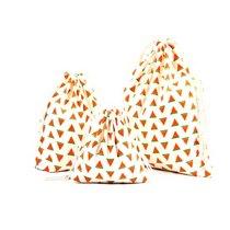 """Хлопковая сумка-мешочек """"Арбузики"""", размер М (20х23 см)"""
