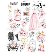 """Набор наклеек (стикеров) """"Say Yes"""", №0641"""