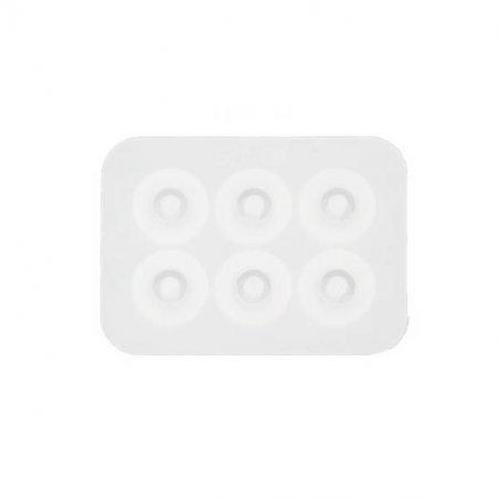 """Силиконовая форма для эпоксидной смолы """"Бусина-шарм"""", 6,8х5 см (d 10 мм)"""