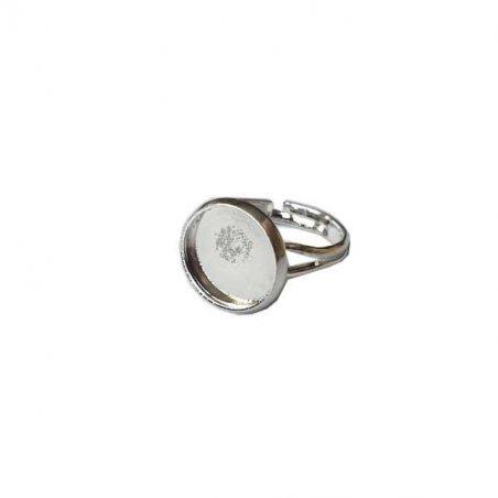 Основа для кольца с  площадкой 1,4 см, цвет - серебро