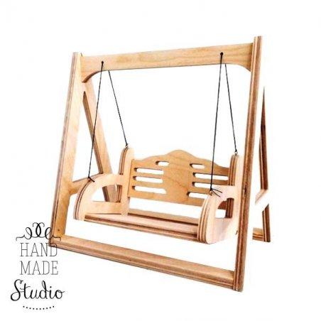 """Кукольная мебель """"Деревянная качель"""", 20х35х23 см"""